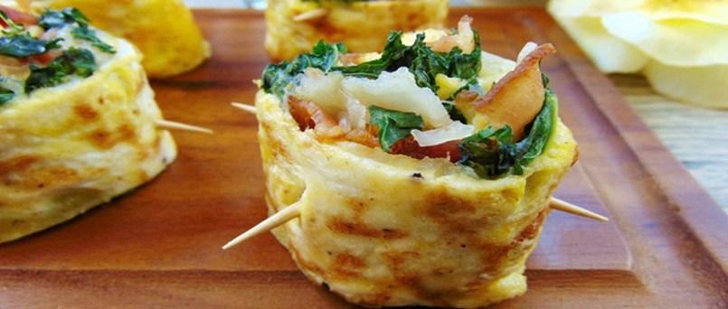 rollito de sushi con tortilla