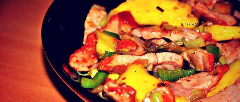 receta_ternera_agridulce_mango_verduras